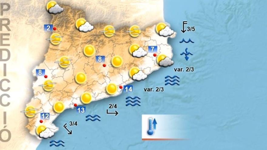 Matí de dijous assolellat i tarda amb nuvolositat arreu de Catalunya