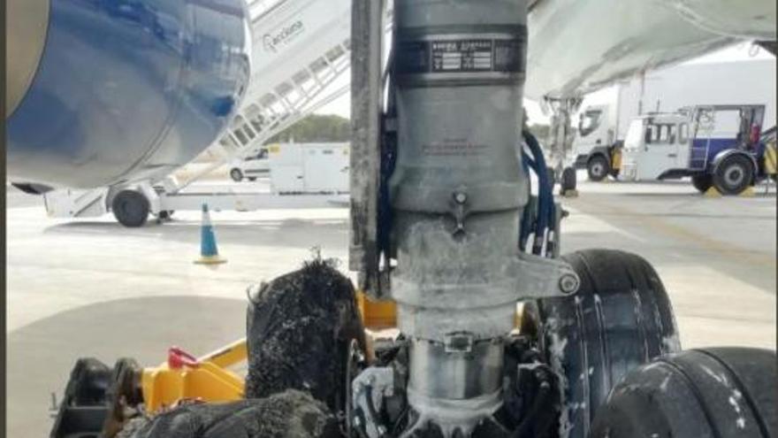 Kaputte Reifen führten zur Notlandung auf Mallorca