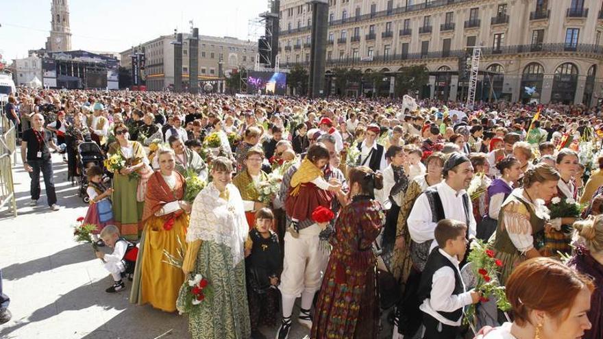 La participación en la Ofrenda de flores de Zaragoza se decidirá por sorteo