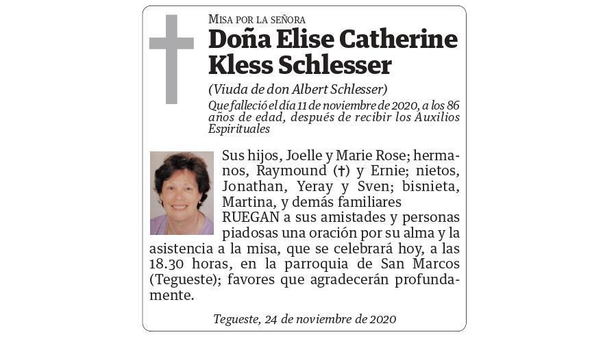 Elise Catherine Kless Schlesser