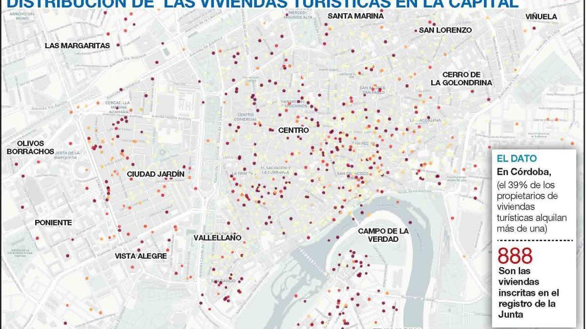 Diez propietarios gestionan más de 200 viviendas turísticas en Córdoba