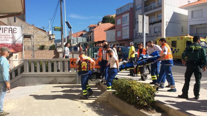 Muere la niña de cuatro años atropellada en Bueu