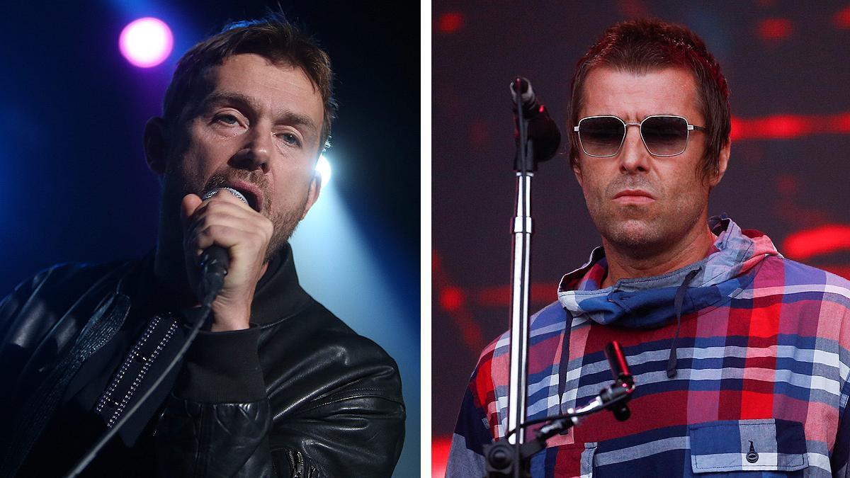 Damon Albarn y Liam Gallagher.