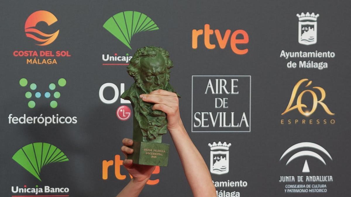 El premio de los Goya.