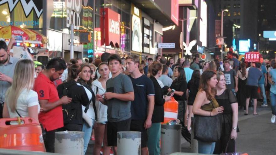 Una estampida deja 9 heridos en Times Square