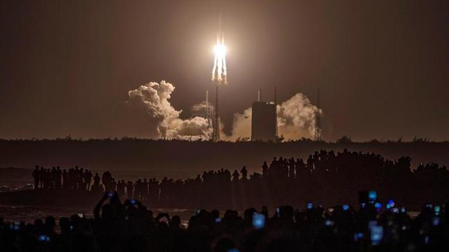 La sonda china Chang'e 5 completa su recogida de muestras en la Luna