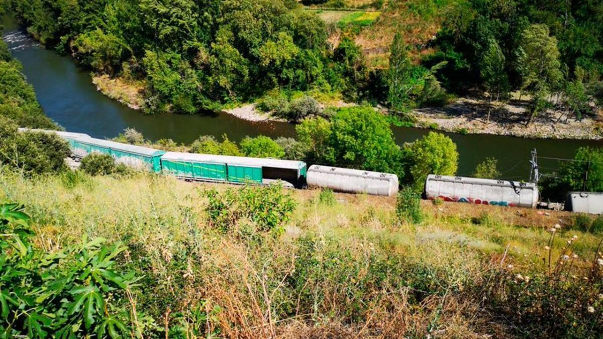 Tren accidente en Carballeda de Valdeorras