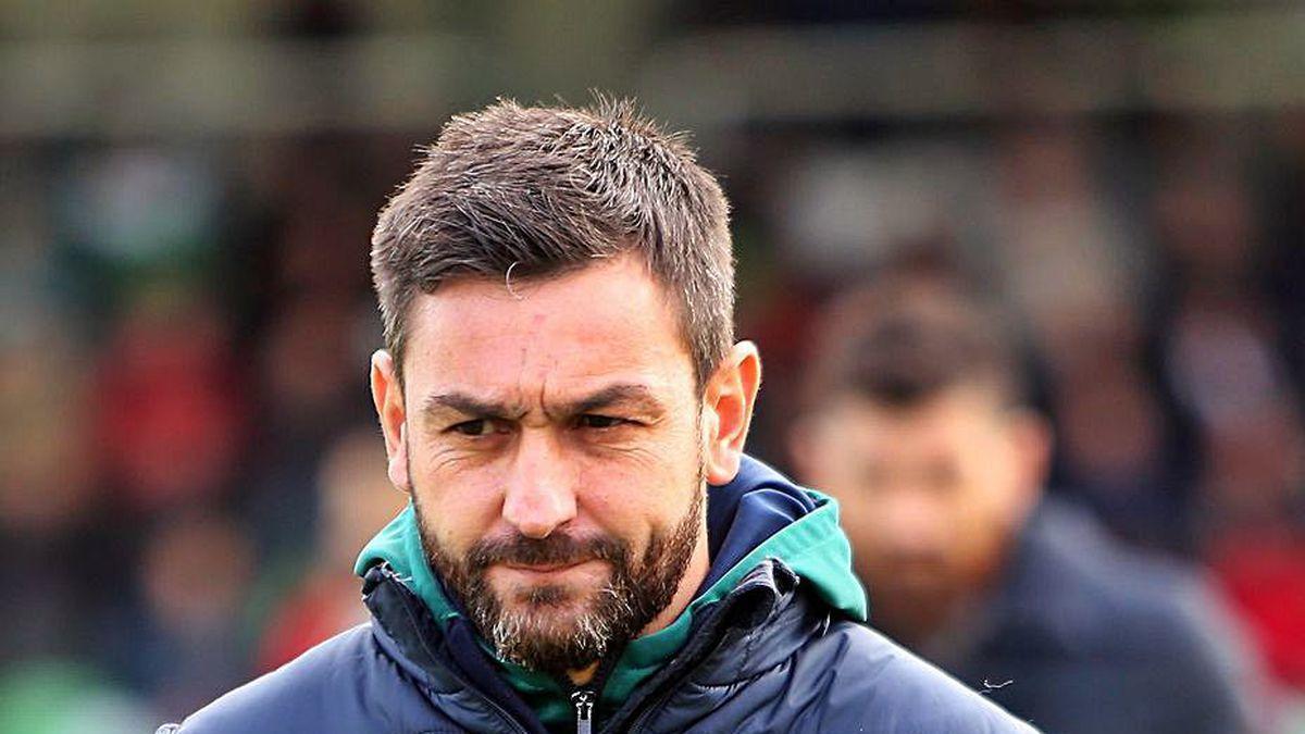 Míchel Alonso, entrenador del Coruxo.