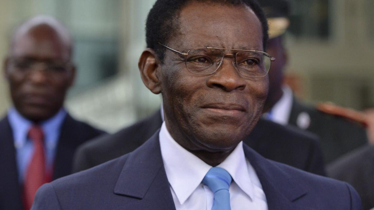 Teodoro Obiang, presidente de Guinea.