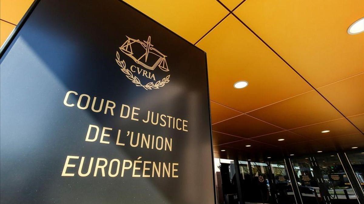 Vista de la entrada del Tribunal de Justicia de la Unión Europea en Luxemburgo.