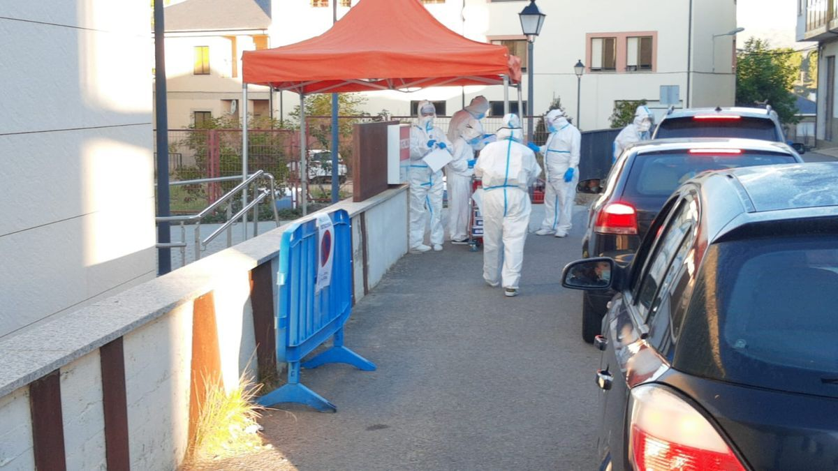 Pruebas PCR por el brote en una residencia durante la pandemia