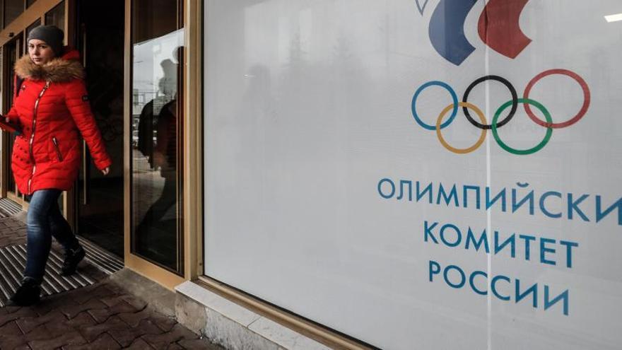 La sede del comité olímpico ruso en Moscú.