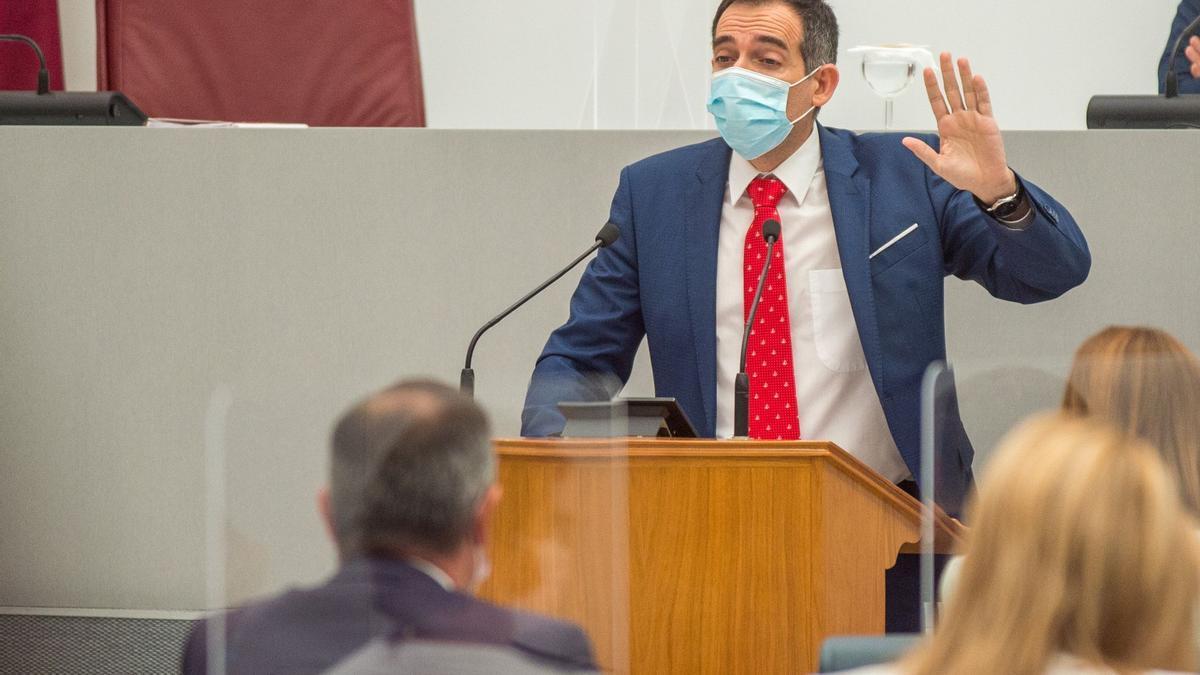 Juan José Liarte, este miércoles, en la Asamblea