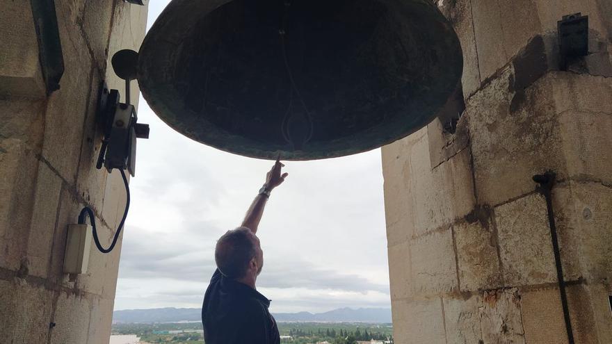 El Campanar de Burriana vuelve a sonar tras la avería causada por el último temporal