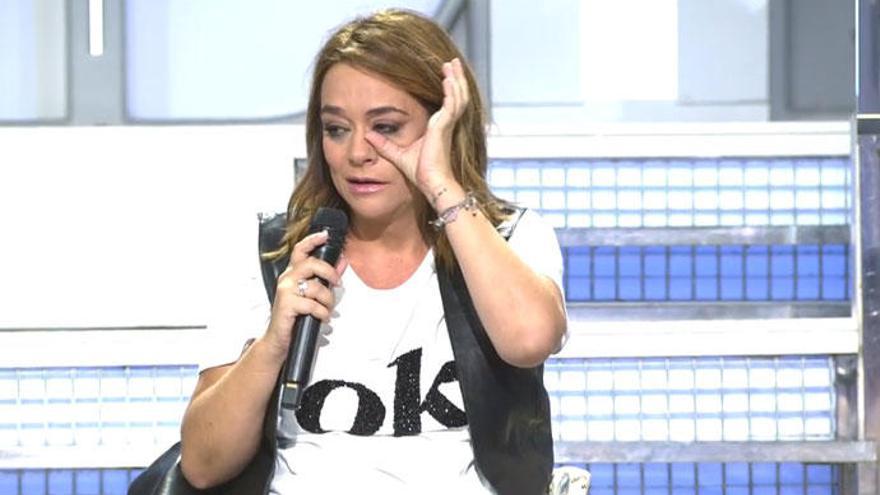Toñi Moreno se rompe en directo al creer que María Teresa Campos ha muerto