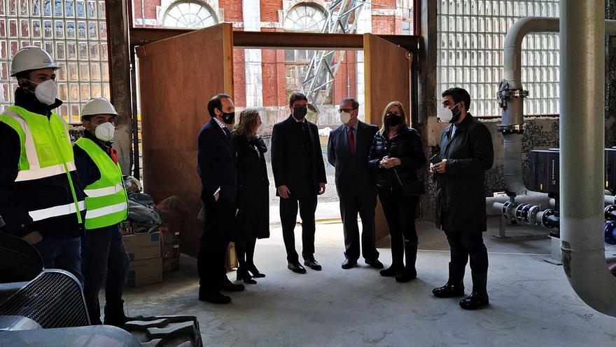 La red que calentará edificios de Langreo con agua del pozo Fondón estará lista en marzo