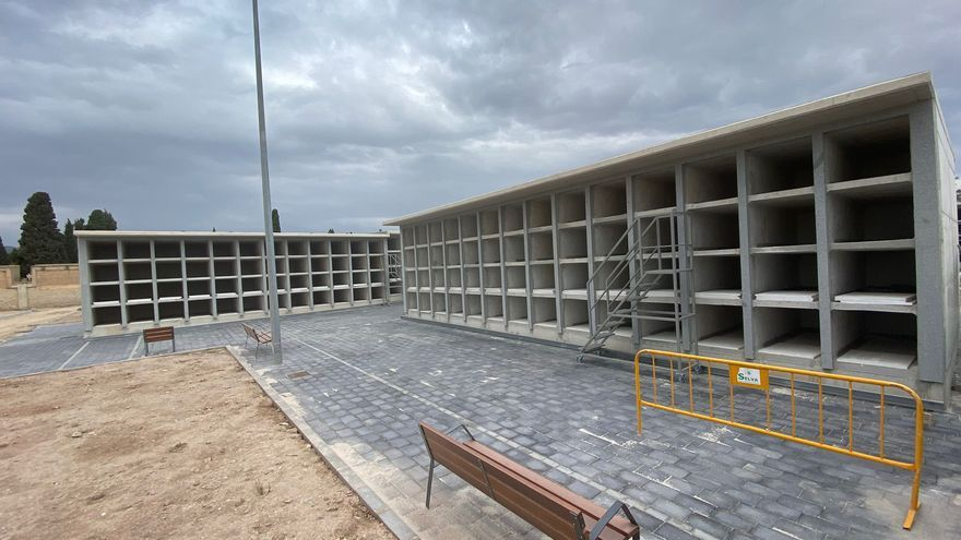 Casi un millar de nuevos nichos amplían la capacidad de enterramientos del cementerio de Alicante