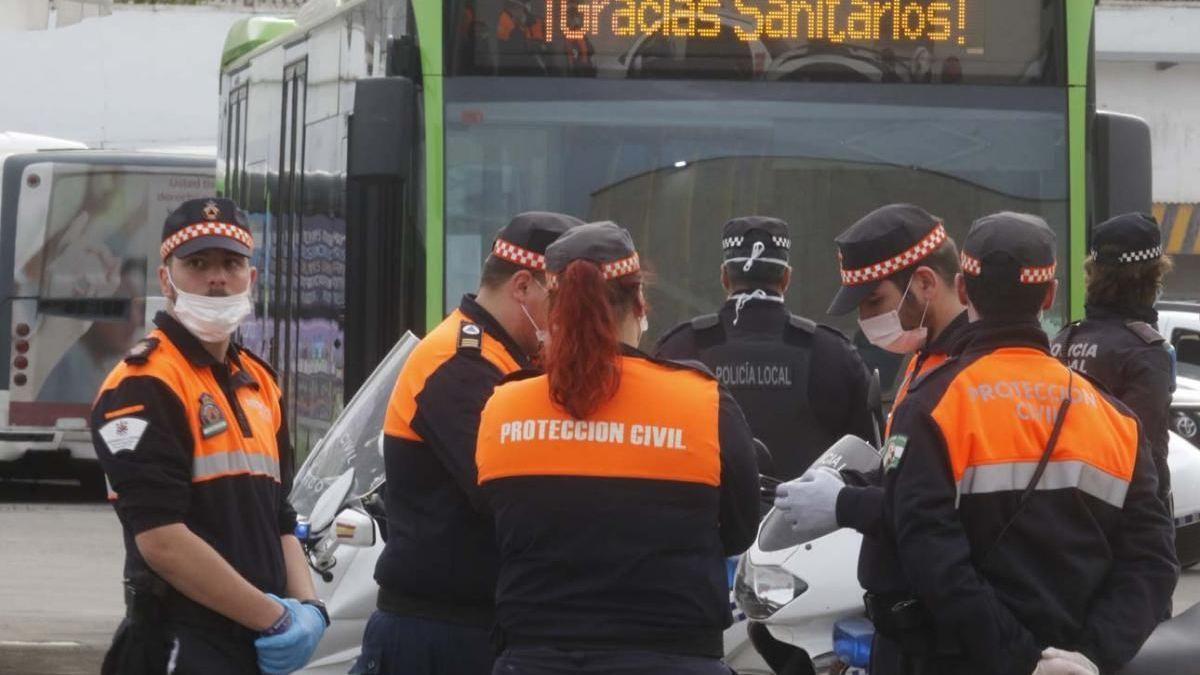 Miembros de Protección Civil de Córdoba.
