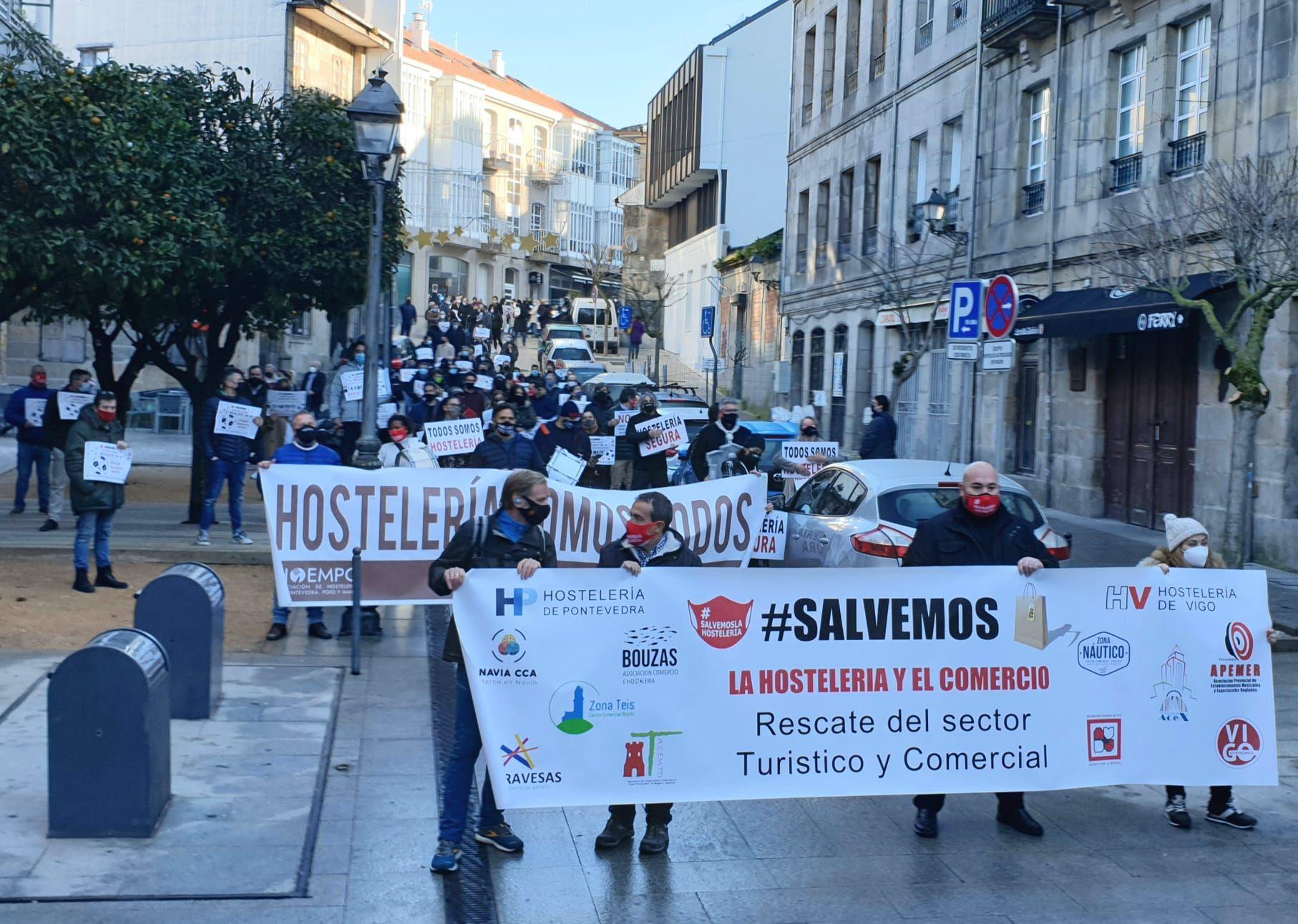 Hosteleros y comerciantes de Vigo vuelven a exigir un rescate ante la Xunta, el Concello y la Diputación