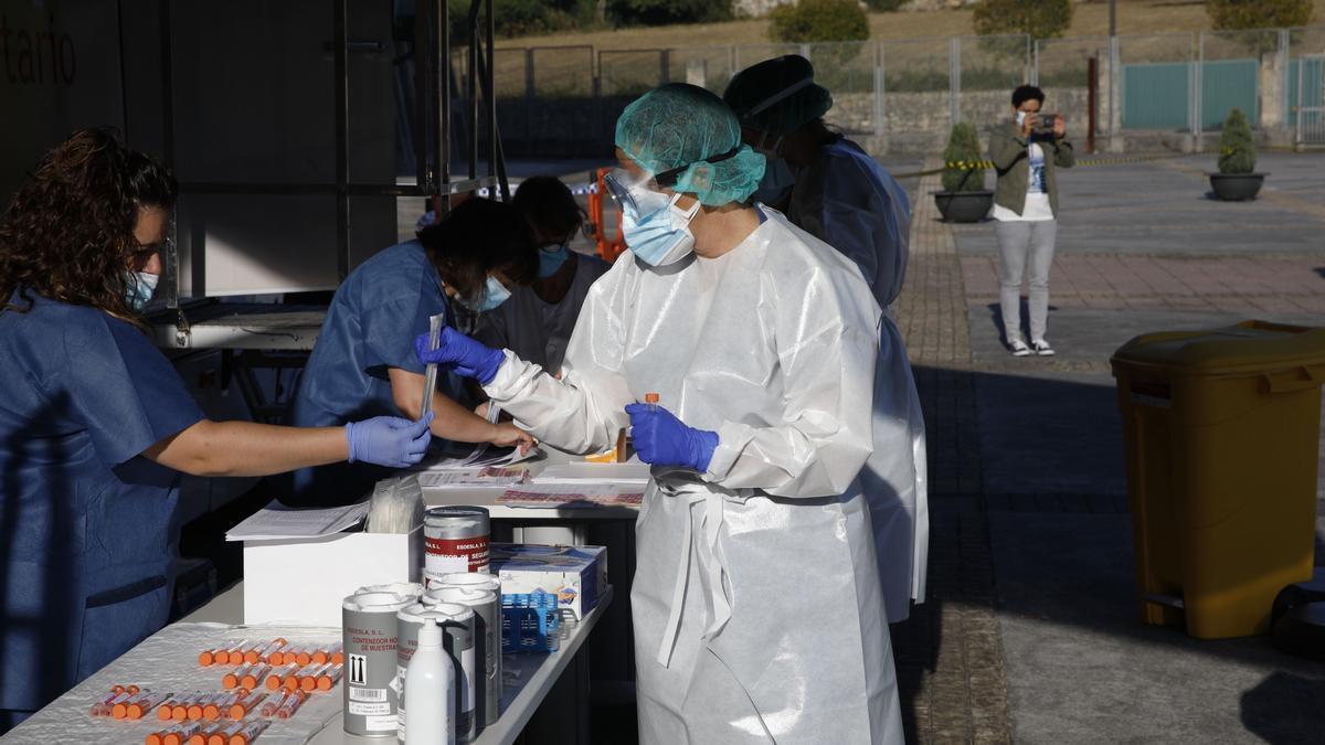 Pruebas de PCR en una localidad asturiana.