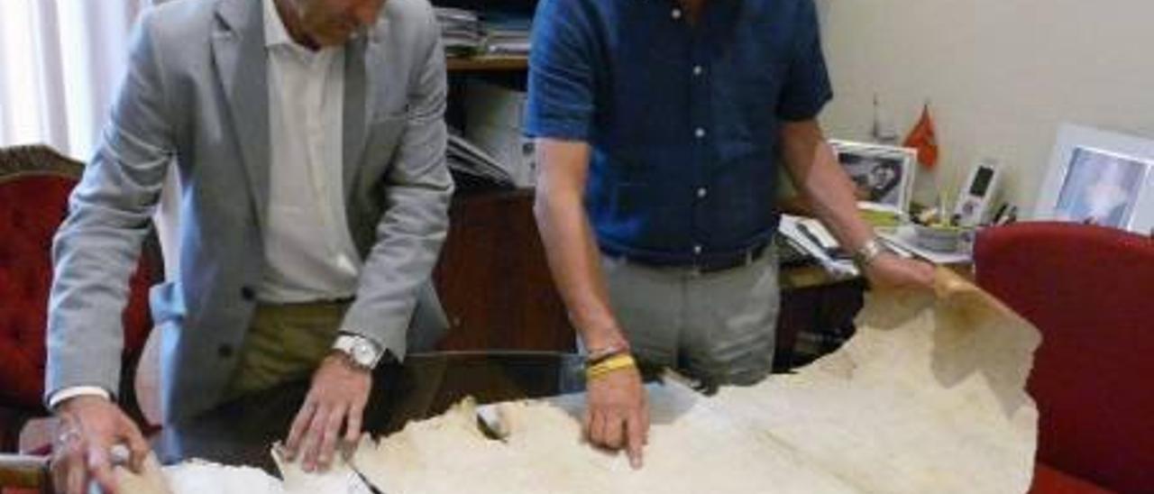 Segorbe restaura un pergamino de Valldecrist datado en 1457