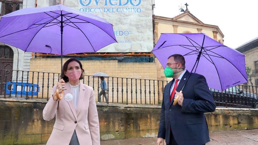 La visita de la ministra de Industria Reyes Maroto a Asturias, en imágenes