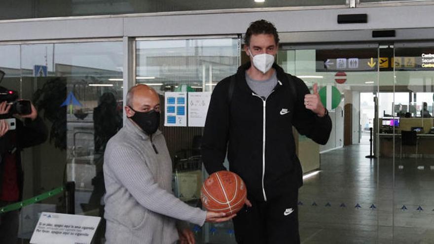 Pau Gasol ya está en Barcelona para incorporarse a su nuevo equipo