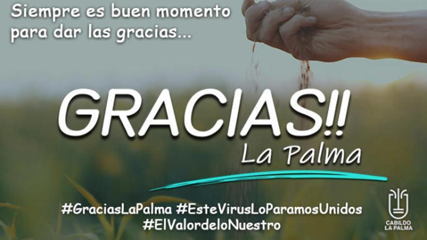 """""""Gracias La Palma"""", el vídeo del Cabildo de la isla que agradece la labor de los sectores esenciales"""