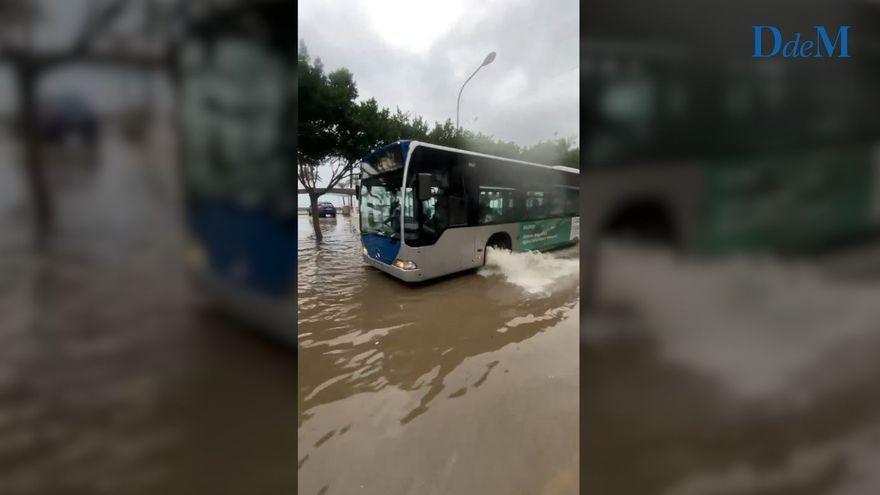 Pequeñas inundaciones en s'Arenal