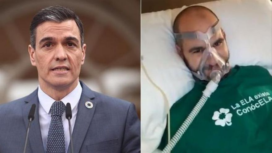 """Un enfermo de ELA recuerda a Sánchez la promesa que le hizo hace un año: """"Mentiroso"""""""