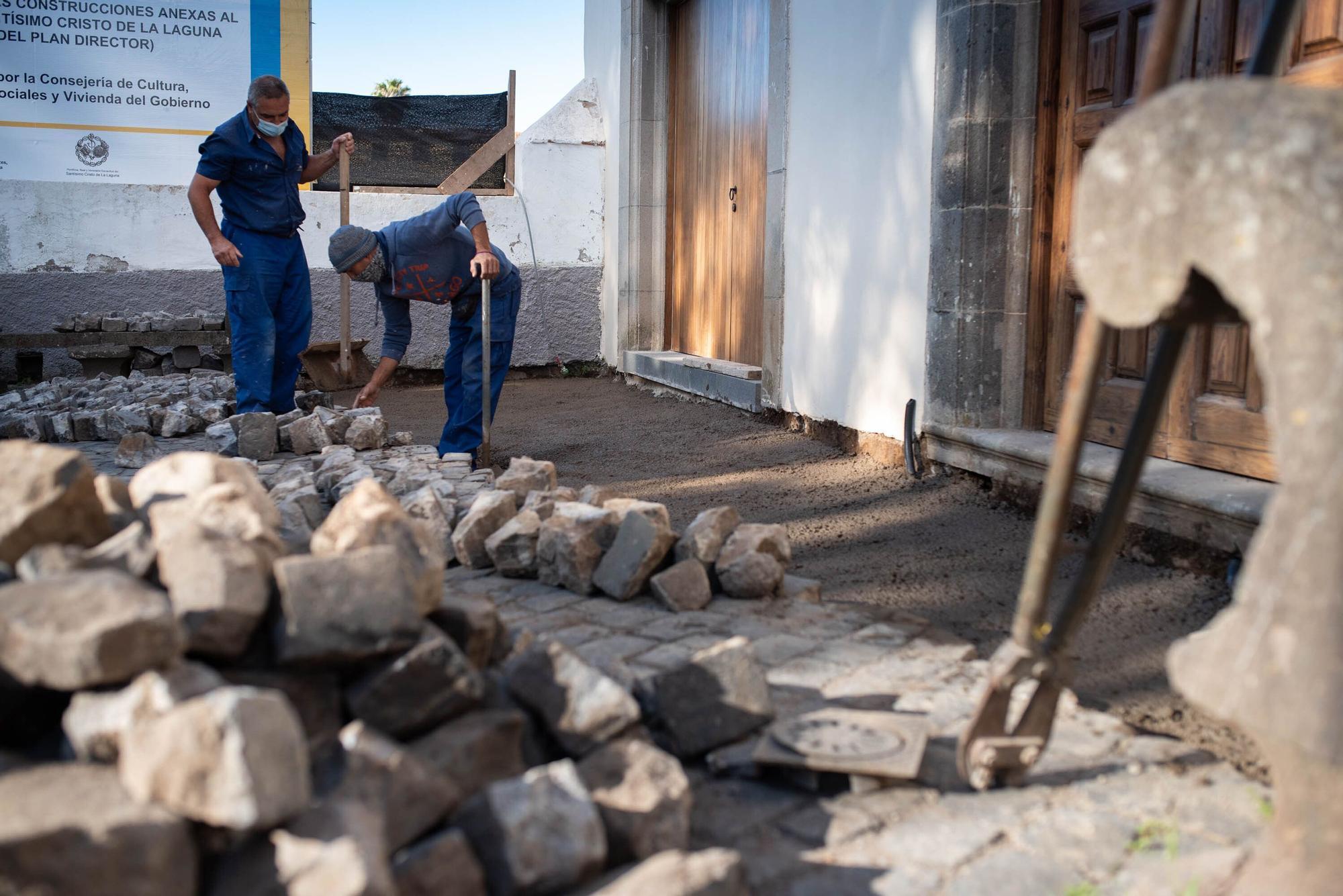 Reportaje en las obras de restauración del Santuario del Cristo