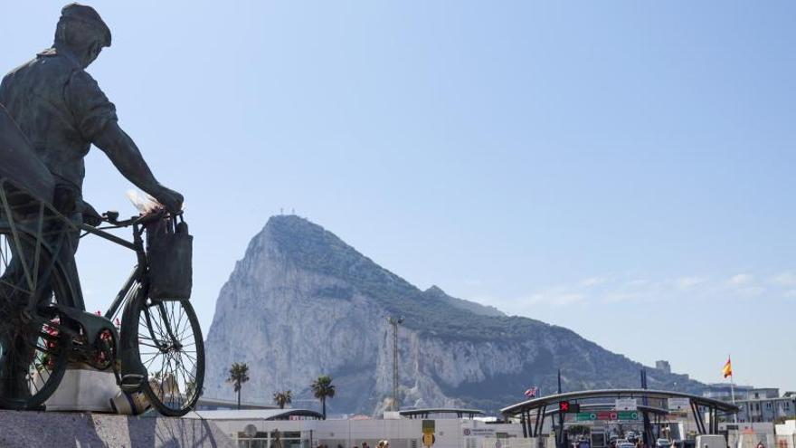 Una vista del Peñón de Gibraltar.