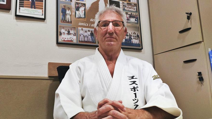 Maurici Casasayas rep el reconeixement a una vida dedicada al judo