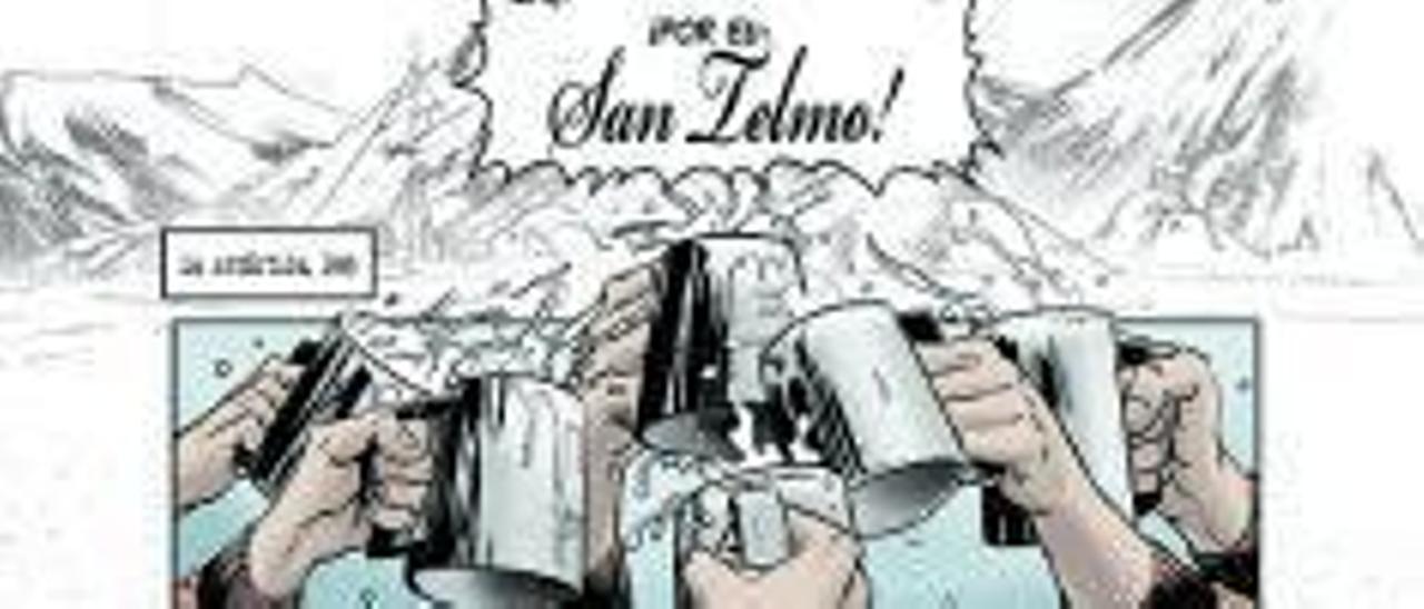 "Páginas del álbum ilustrado ""San Telmo""."
