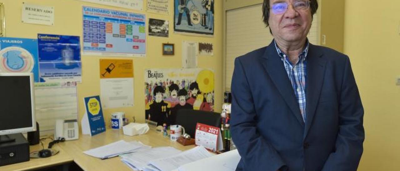 Amós García Rojas, en su despacho.     ANDRÉS CRUZ