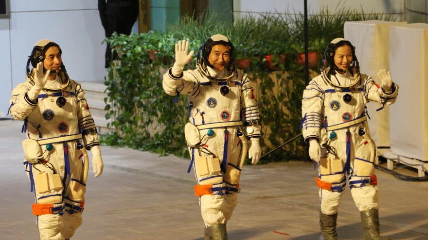 La nave Shenzhou-13 llega a la estación espacial china Tiangong