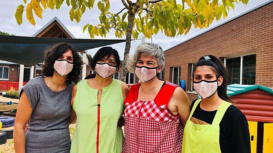 Llagostera Mascaretes transparents per a les educadores de les llars