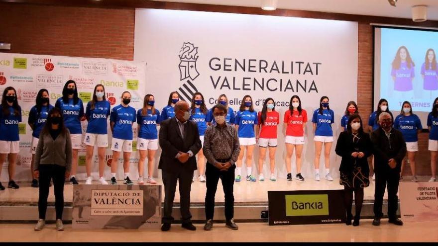 Es presenta la 'XV Lliga de Bankia d'elit de raspall femení'