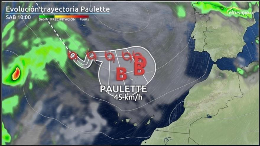 La tormenta 'zombie' Paulette se debilitará antes de llegar a Canarias