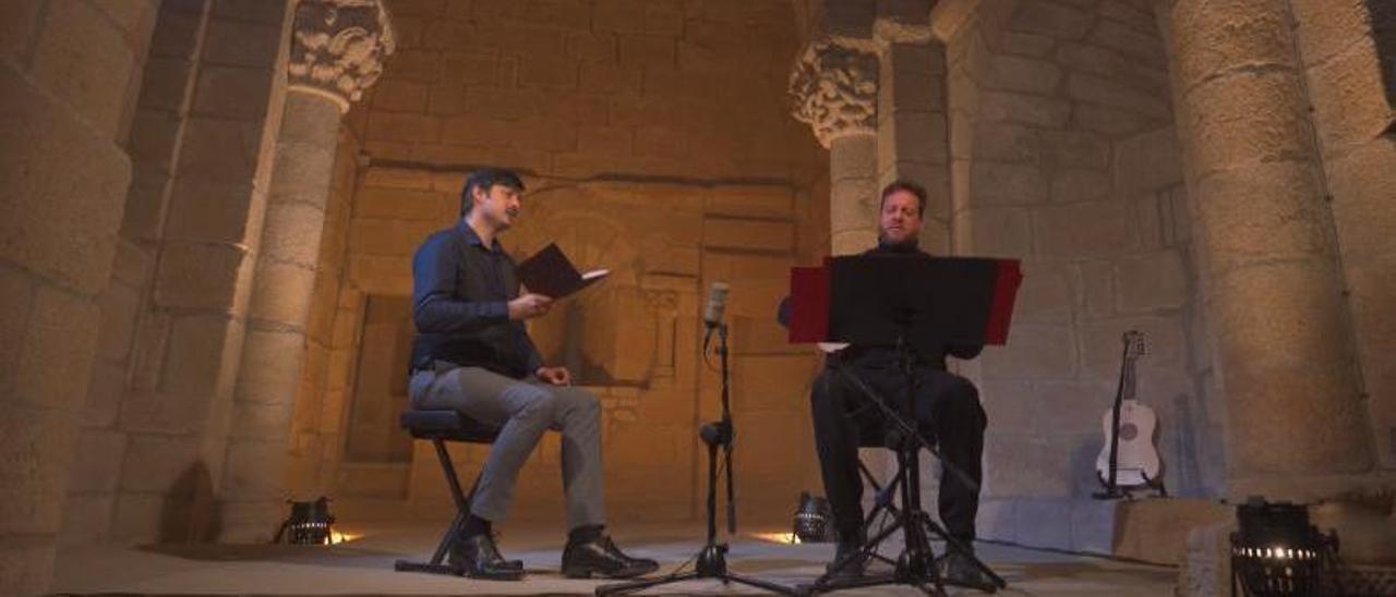 Un momento de la grabación del concierto en la capilla de San Vicente de la catedral de Tui.   | // FDV