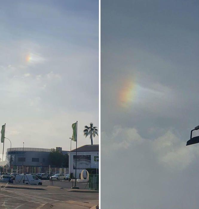 Parhelio, el raro fenómeno que se ha podido ver esta semana en el cielo de Alicante