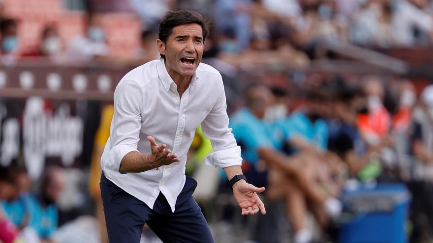 Marcelino habla de los cánticos contra Peter Lim en su vuelta a Mestalla