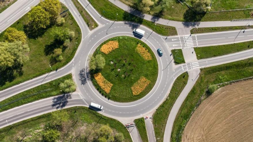 Así es la 'Rotonda Mágica' que evita atascos y accidentes