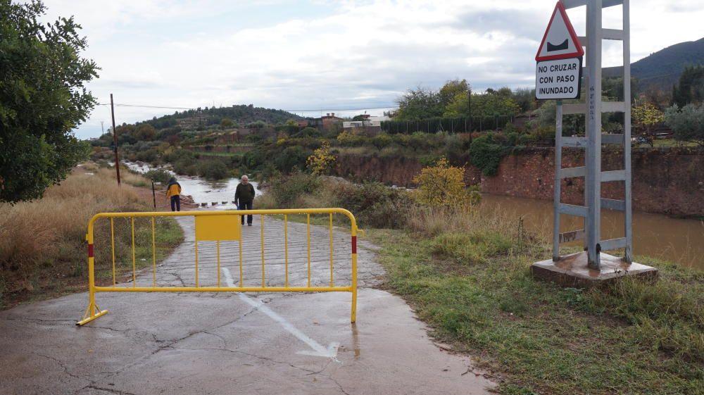 Consecuencias de la lluvia en la provincia de Castelló