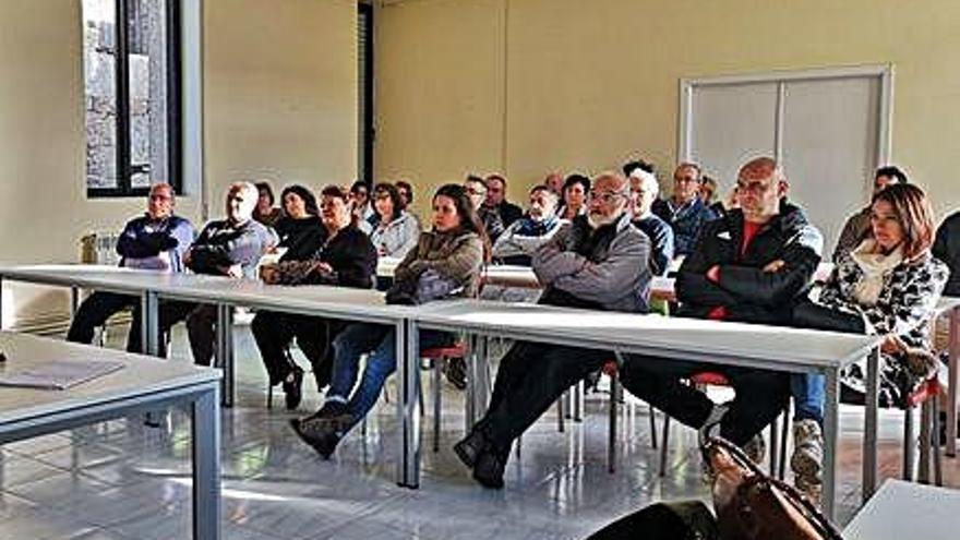 Reunión de empresarios en Villardeciervos.
