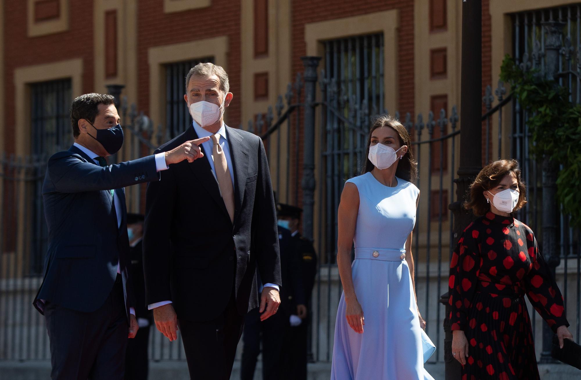 El Rey Felipe VI recibe en Sevilla la Medalla de Honor de Andalucía
