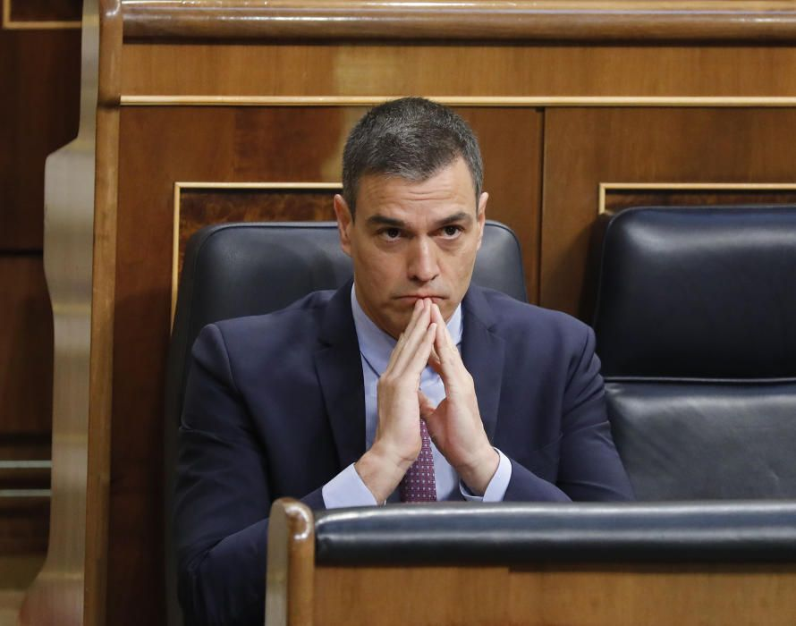 El presidente del Gobierno, Pedro Sánchez, ...