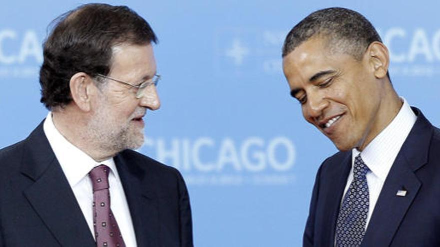 Rajoy inaugura su agenda internacional con Obama