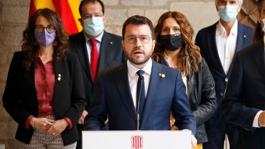 """Aragonès diu que la detenció de Puigdemont """"no ajuda gens"""" a resoldre el conflicte i avui viatjarà a Sardenya"""