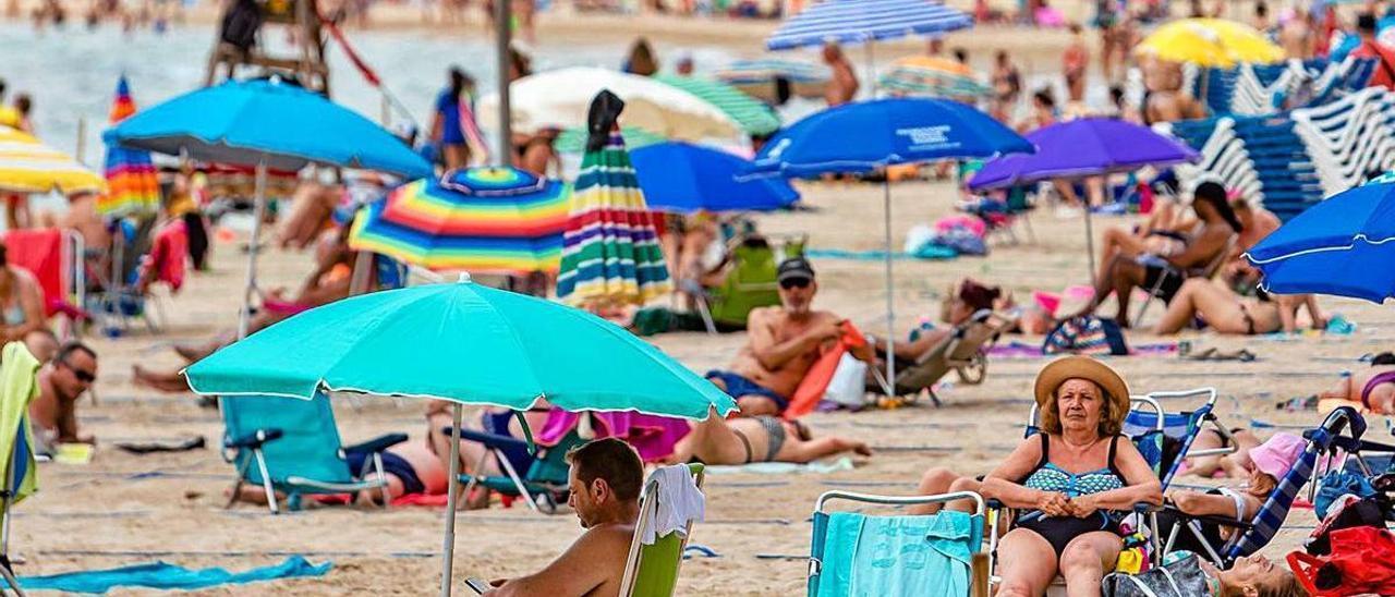 El tiempo no fallará este verano para que se llenen las playas. Levante, Benidorm.   DAVID REVENGA